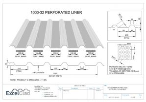ExcelClad 1000-32 Perforated